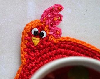 Crochet Pattern - Easter Hen Coaster by VendulkaM / Digital tutorial / Kitchen table / Decoration
