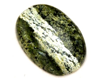Green Opal Cabochon Stone (27mm x 16mm x 5mm) - Swiss Opal - Oval Cabochon