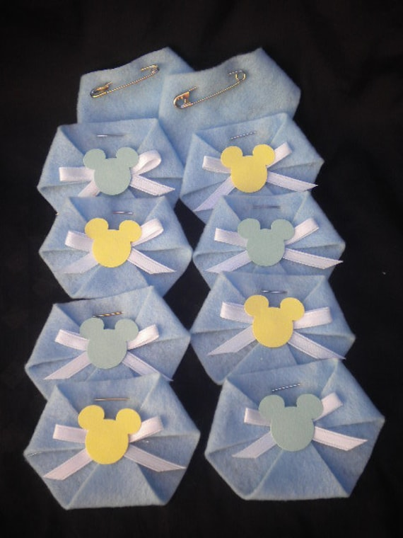 48pc Dirty Diaper Game Baby Shower Baby Mickey Mouse Baby
