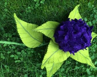 Hydrangea made of felt, flower, flower