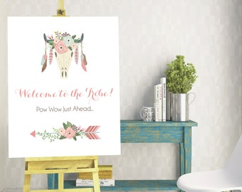 Welcome to the Tribe Boho Tribal Poster Sign - 16x20 - Instant Download