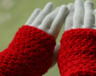 Simple Fingerless Gloves Crochet Pattern