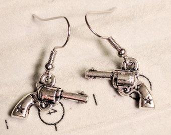 Pistol Earrings - Gun Earrings - Wild West Earrings