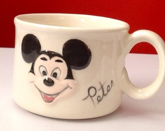 Mickey Mouse Cup with the name Peter, Personalized Cup