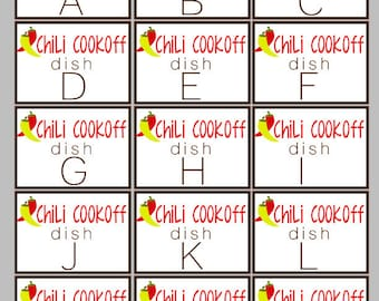 Group Chili Entry Letter Sheet ONLY - INSTANT DOWNLOAD