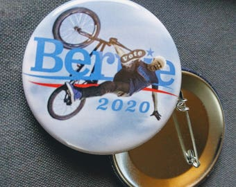 THREE Vote Bernie Sanders 2020 BMX Pinback Buttons