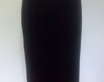 Vintage velvet skirt by St Michael black velvet maxi skirt size small