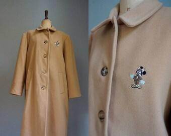Caramel Disney Donaldson Minnie Mouse Coat / Vintage Coat