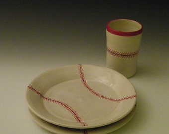 Baseball Dishes Set