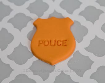 Police Officer, Cop, Trooper, Fondant Cupcake Toppers