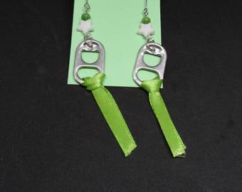 Lime Green Ribbon earrings
