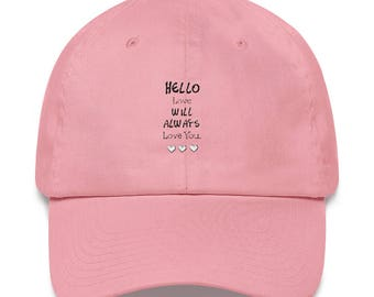 Custom hat, Embroidered your own text, Adjustable Back.