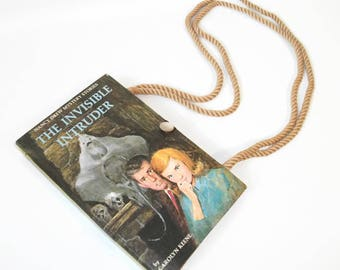 Nancy Drew Book Purse Shoulder Handbag The Invisible Intruder
