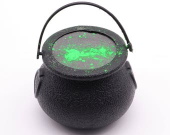 READY TO SHIP - Cauldron Bath Bomb, bath fizzy, bath fizzie, party favor, Halloween, immediate shipping, witch, toil and trouble, pot