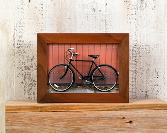 """5x7"""" Picture Frame in 1x1 Flat Style with Natural WILLOW Finish - IN STOCK - Same Day Shipping - Gallery Frame 5 x 7 Solid Hardwood"""