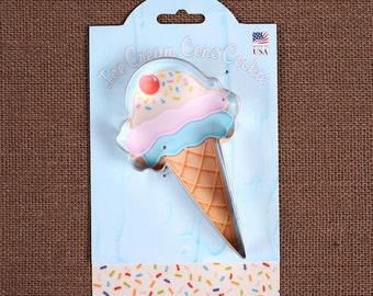 Ice Cream Cone Cookie Cutter, Ice Cream Cookie Cutter, Sugar Cookie Cutter, Metal Cookie Cutters, Pastry Cutters, Biscuit Cutter