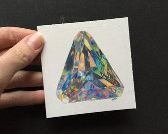 Opal Gemstone October Birthstone Sticker