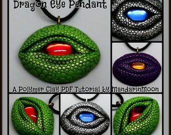 Dragon Eye Pendant,  A Polymer Clay PDF Tutorial, DIY Jewelry