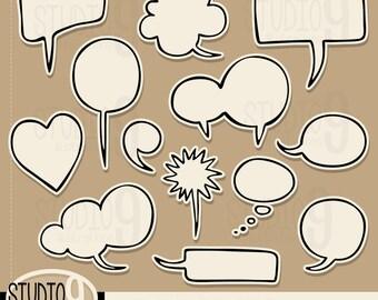 THOUGHT BUBBLE Clip Art: Thought Bubble Clipart Cartoon Clip Art, Thought Bubbles Download, Comic Clip Art