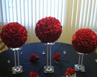 Four 8 Kissing Balls Pomander Ball Flower Ball Rose