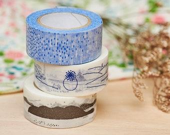 Classiky x Shunshun Washi Tape   20mm Japanese Masking Tape, Classiky washi tape, Cute craft supplies