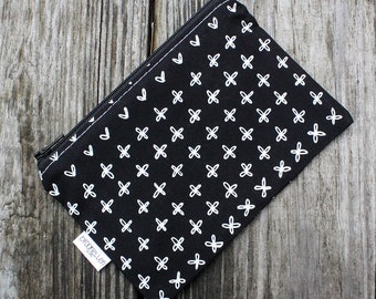 Snack Bag Reusable Baggie Black and White Ready to Ship