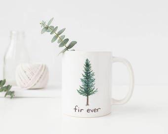 Douglas Fir Mug / Ceramic Mug / Oregon Mug / Evergreen Tree Mug / Pacific Northwest Mug / Camping Mug / Oregon Gifts / Mug / Portland Gifts