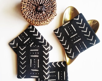 Mud Cloth Coasters| Set of 4