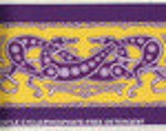 Jane Walker Celtic Hound Collar Fabric Strip C-Yellow/Purple