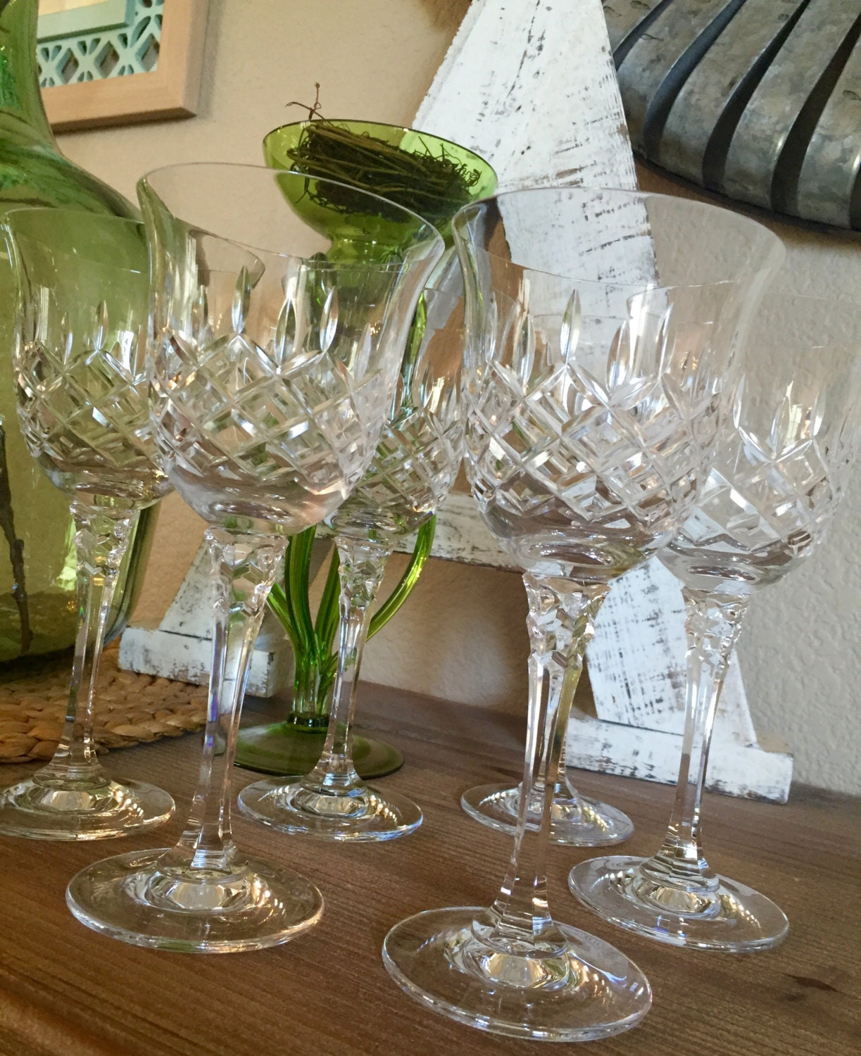 Towle crystal water goblet set of 6 king richard pattern criss zoom floridaeventfo Image collections