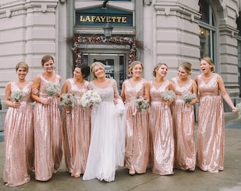 Rose gold bridesmaid dress rosie sequin rose gold bridesmaid dress rosie sequin bridesmaid dress wedding party junglespirit Image collections