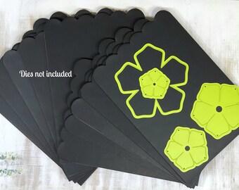 Set of 10 Scalloped Magnetic Storage Boards, Thin Die Storage, Craft Storage