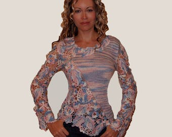 irish crochet pattern,detailed tutorial,crochet sweater pattern,irish crochet pattern,PDF knit sweater pattern,irish crochet,motifs PDF