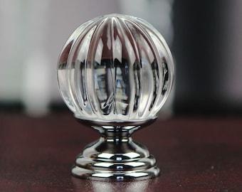 Crystal Knobs / Glass Dresser Knob Drawer Knobs Pull Handles / Kitchen Cabinet Pulls Knobs Decorative Knobs Silver Cupboard Handle Hardware