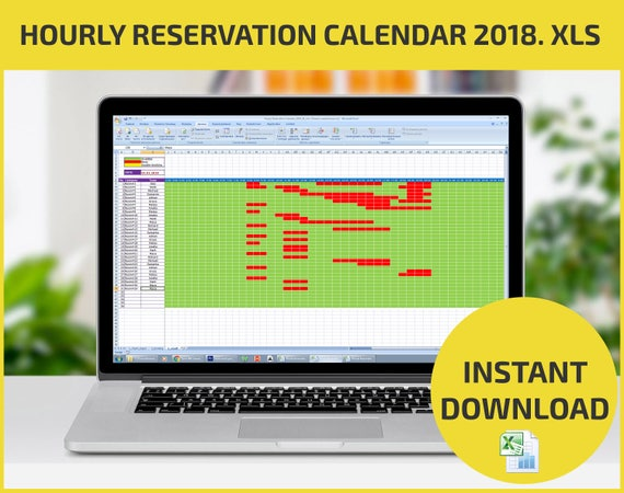 booking calendar excel