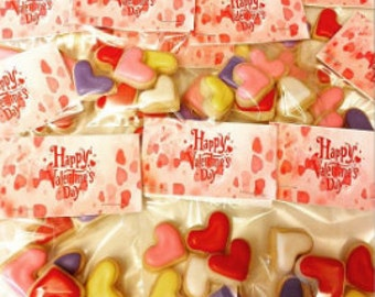 Valentine heart decorated sugar cookies