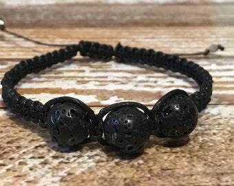 Lava Rock Bracelet / Healing Crystal Bracelet / Essential oil diffuser bracelet / Mens Bracelet / Healing Bracelet / Lava Rock