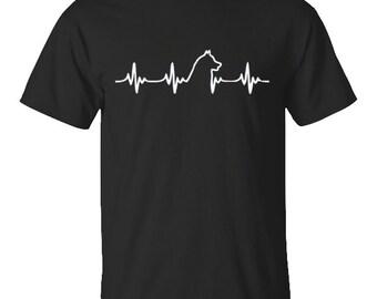 Siberian Husky Shirt, Heartbeat Siberian Husky Shirt , Siberian Husky T-Shirt, Husky Shirt, Gift For Her, Gift For Him, Gifts