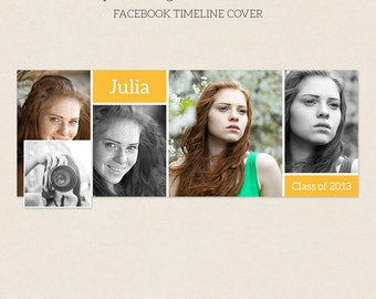 Facebook Timeline Cover - Facebook Timeline Template - PSD Template - Customize Facebook Page - Instant Download - F217