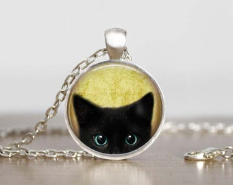 Black Cat Pendant Cat Pendant, Necklace With Cat, Black Cat Lovers, Black Cat Gift, Necklace for Teen cat lover gift jewelry