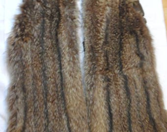 2 Coyote Fur Sleeves from a Coat Long & Wide Gorgeous Craft Repurpose