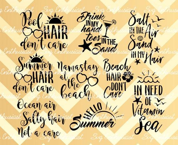 Ordinaire Summer Bundle SVG, Summer Sayings Svg, Beach Sea Svg, Travel SVG, Ocean Sun  Svg, Pool Hair Svg, Vitamin Sea Svg, Clip Art