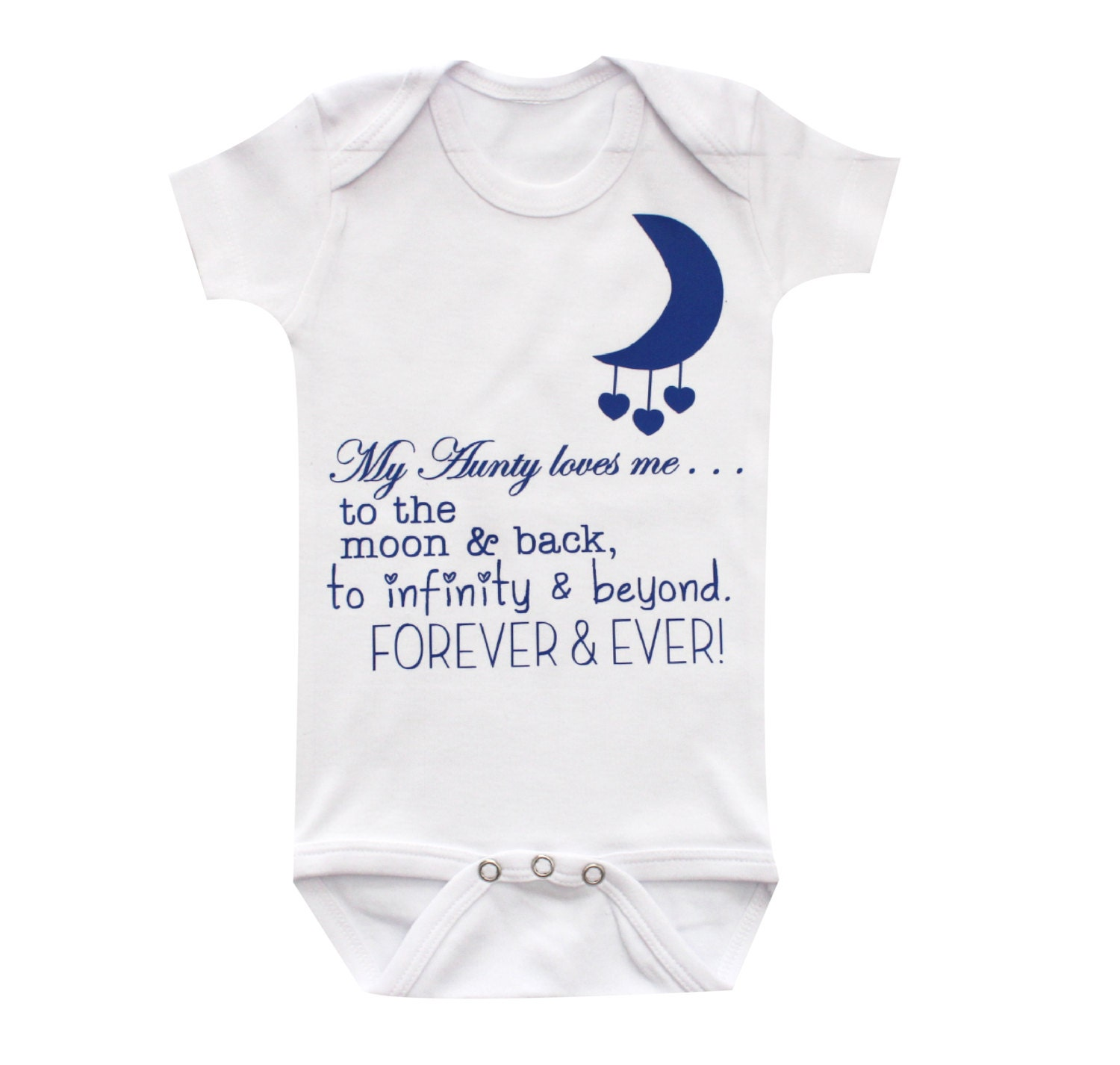 Aunt baby clothing Aunty loves you to the moon and back cute