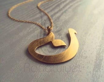 Arabic Calligraphy Letter Pendant - Personalized Arabic Initial Pendant - Arabic Alphabet Letter Necklace
