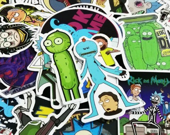 50Pcs Rick and Morty Waterproof Anime Sticker For Guitar Laptop phone cases