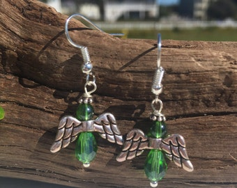 Angel Earrings, Angelic Earrings, Christmas Earrings, Gift Ideas, Angel Wings, Wing Earrings, Dangle Earrings, Handmade Jewelry