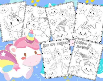 Cute Unicorn Coloring Pages - The Crayon Crowd, unicorns, birthday, party, party favors, Coloring book, Sheets, kids, pdf
