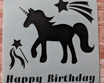 Unicorn Silhouette stencil & mask set by Imagine Design Create