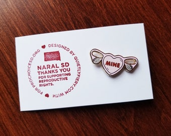 Uterus Heart Pin