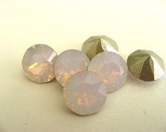 12 Rose Water Opal Foiled Swarovski Crystal Chaton Stone 1088 39ss 8mm